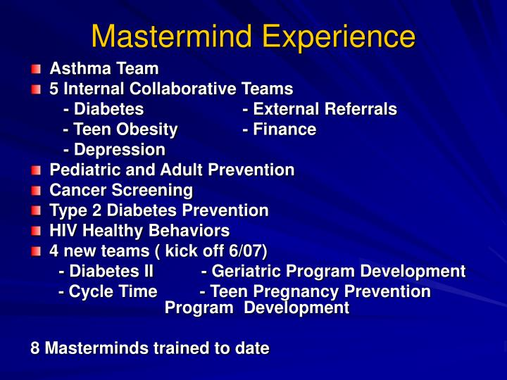 Mastermind Experience