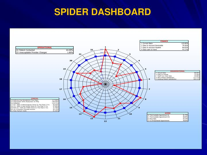 SPIDER DASHBOARD