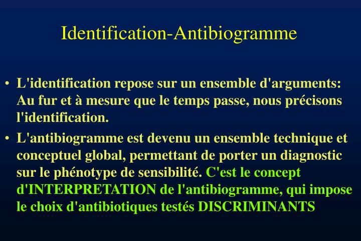 Identification-Antibiogramme