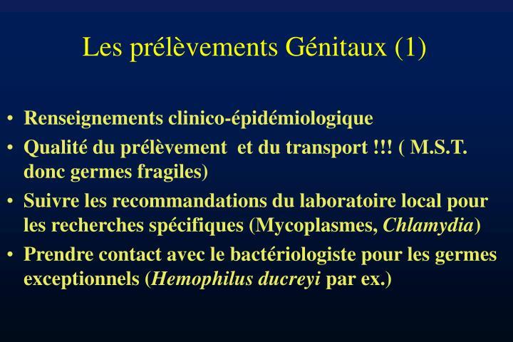 Les prélèvements Génitaux (1)