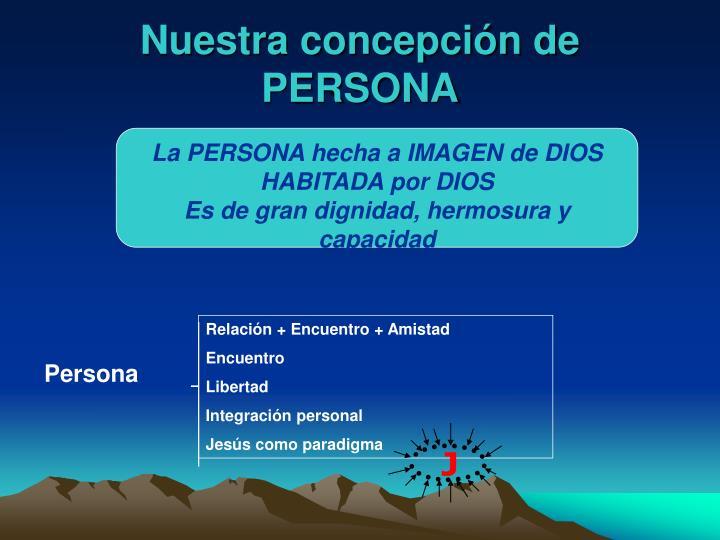 Relación + Encuentro + Amistad