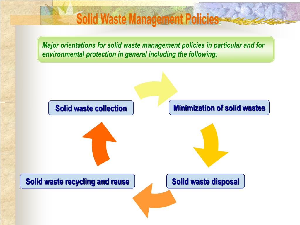 Solid Waste Management Policies