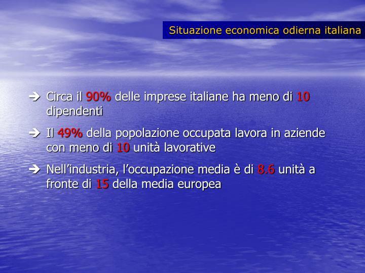 Situazione economica odierna italiana