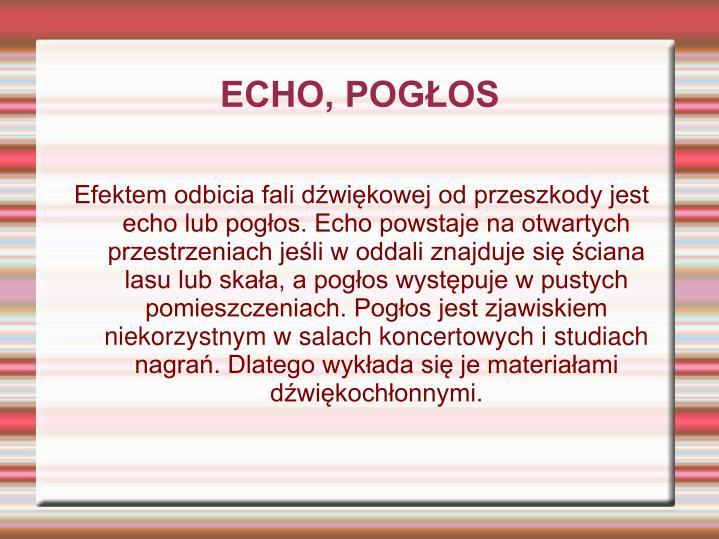 ECHO, POGŁOS