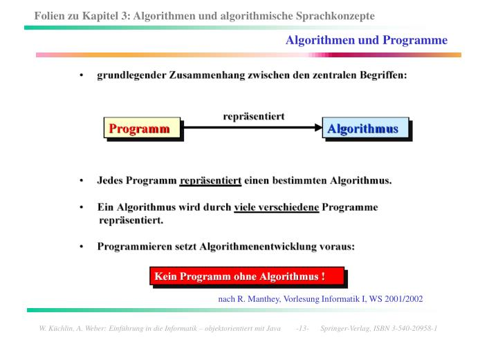 Algorithmen und Programme