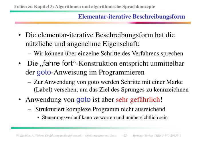 Elementar-iterative Beschreibungsform