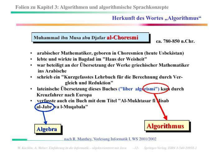 "Herkunft des Wortes ""Algorithmus"""