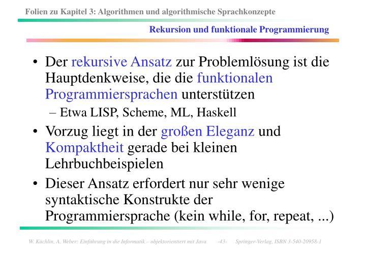 Rekursion und funktionale Programmierung