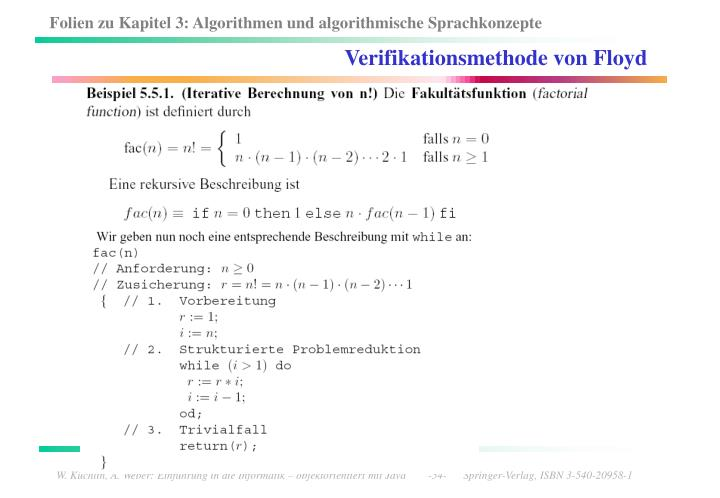 Verifikationsmethode von Floyd