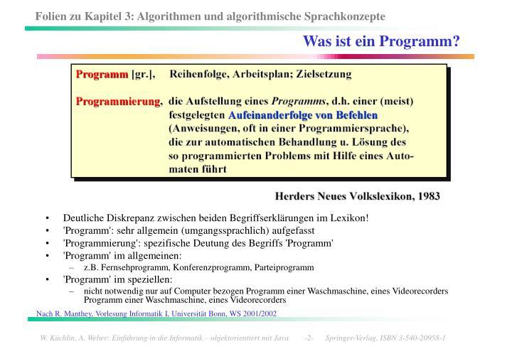 Was ist ein Programm?