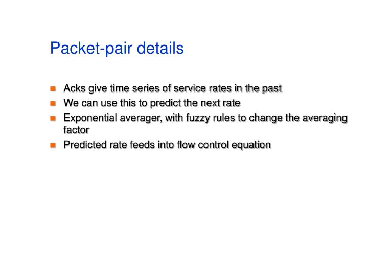 Packet-pair details