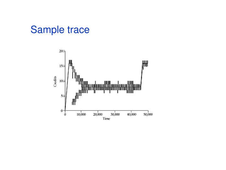 Sample trace