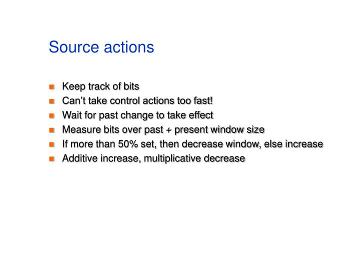 Source actions