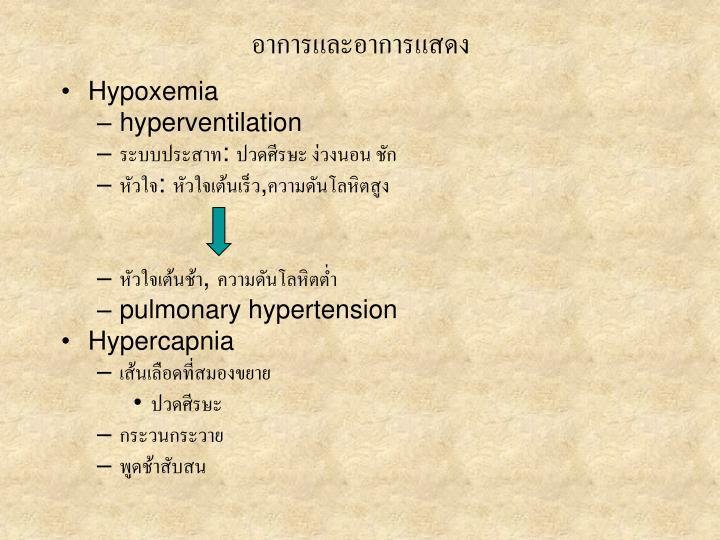 อาการและอาการแสดง