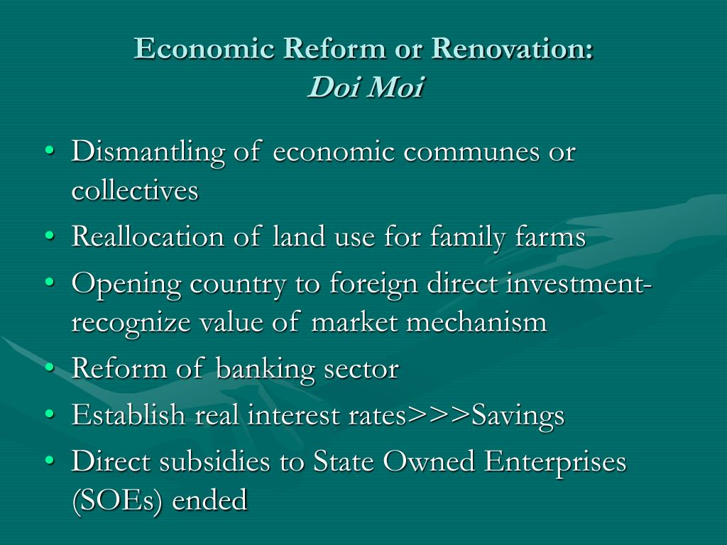 Economic Reform or Renovation: