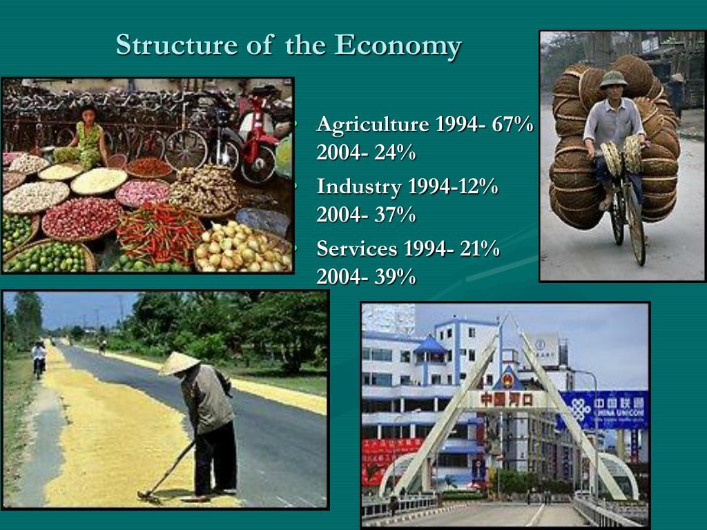 Agriculture 1994- 67%       2004- 24%