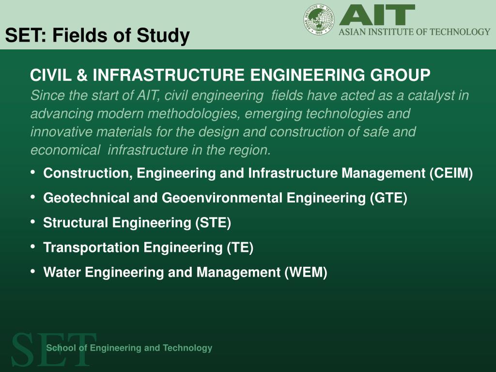 SET: Fields of Study