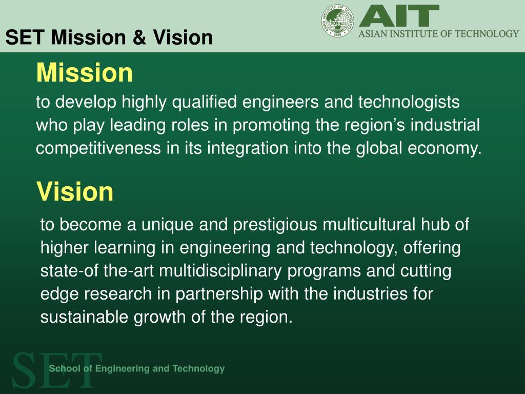 SET Mission & Vision
