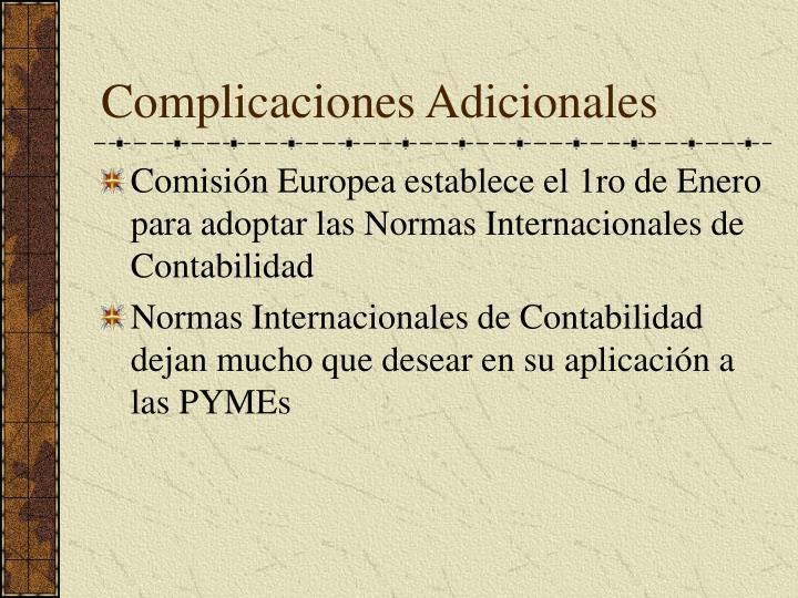 Complicaciones Adicionales