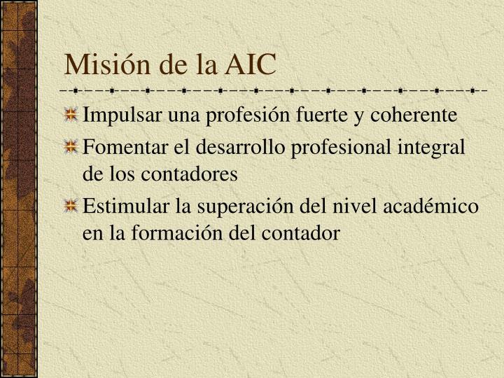Misión de la AIC