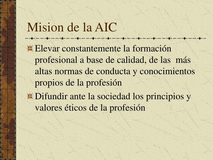 Mision de la AIC