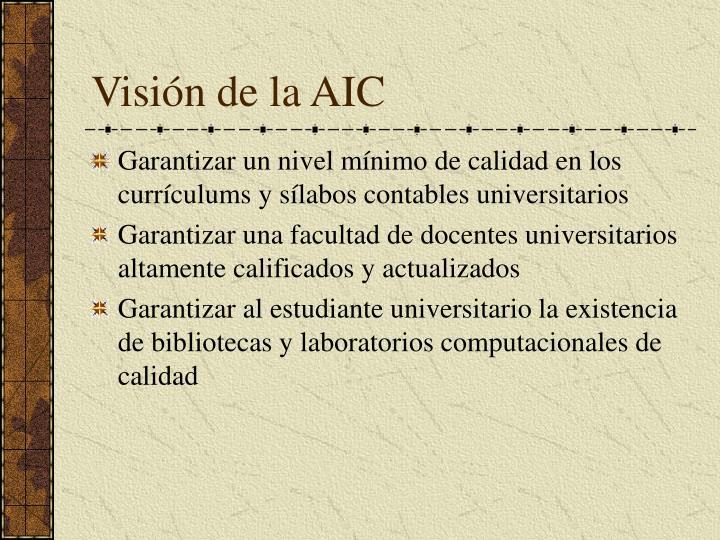 Visión de la AIC
