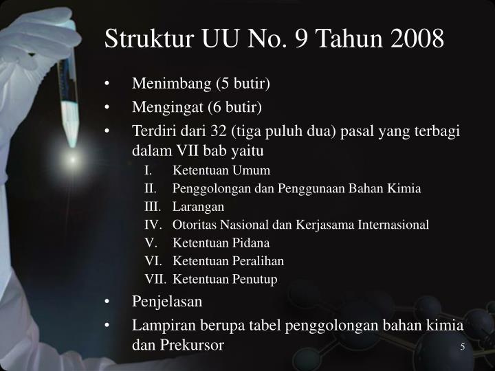 Struktur UU No. 9 Tahun 2008