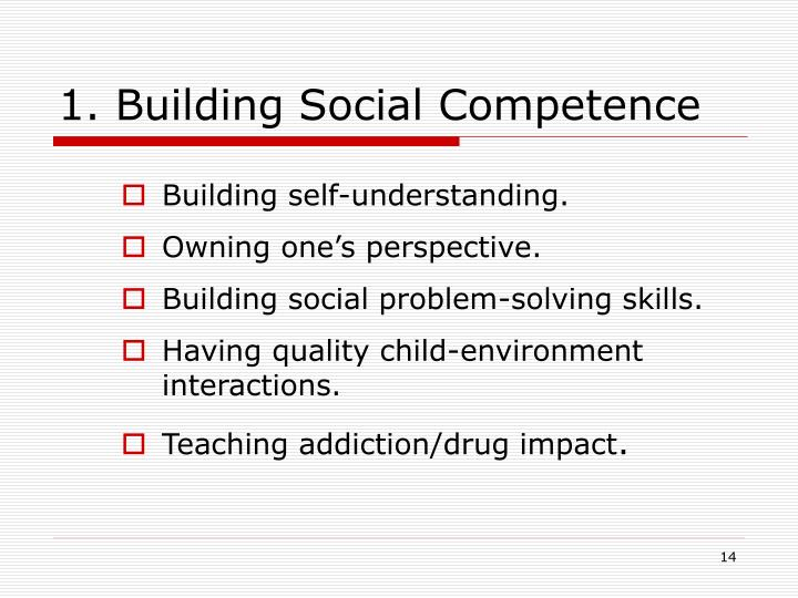 1. Building Social Competence