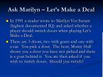 ask marilyn let s make a deal