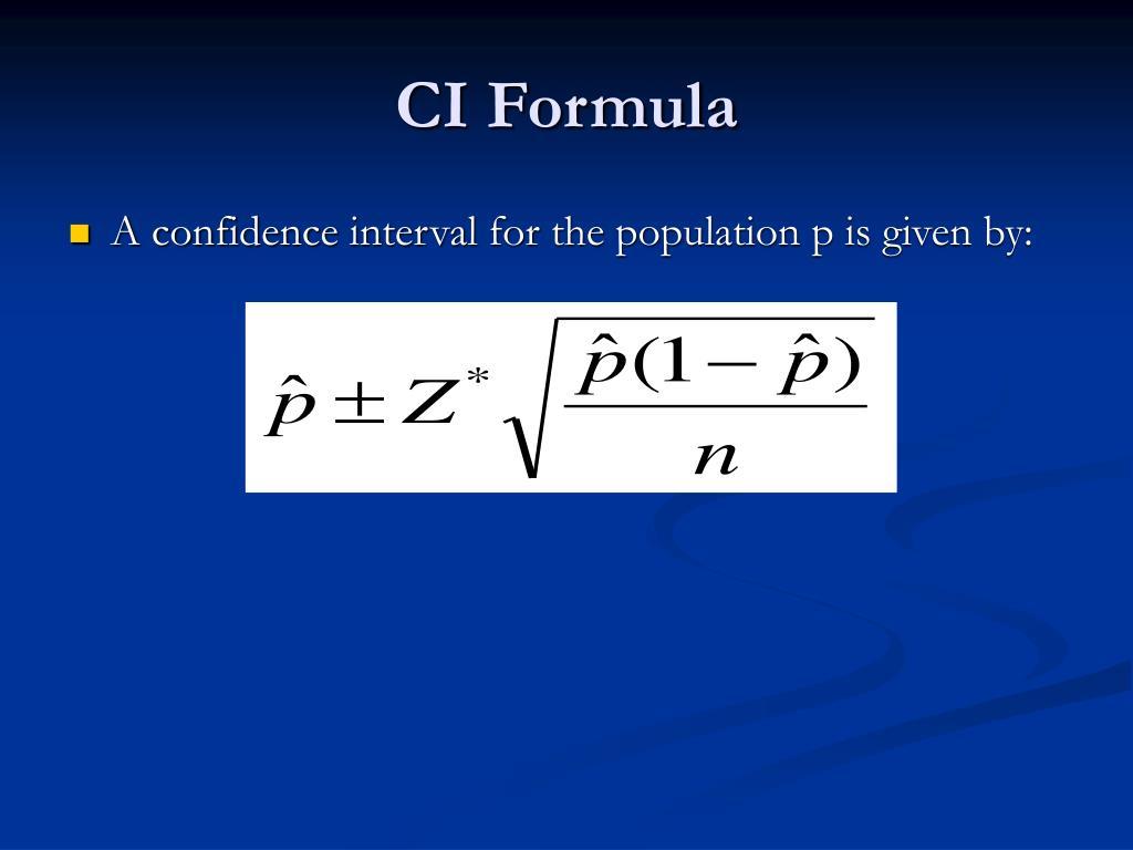 CI Formula