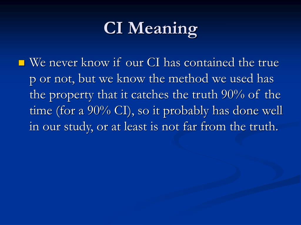 CI Meaning