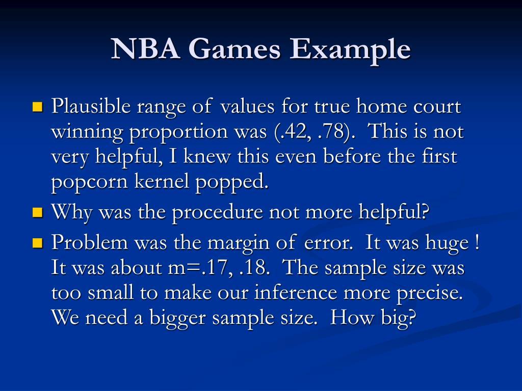 NBA Games Example