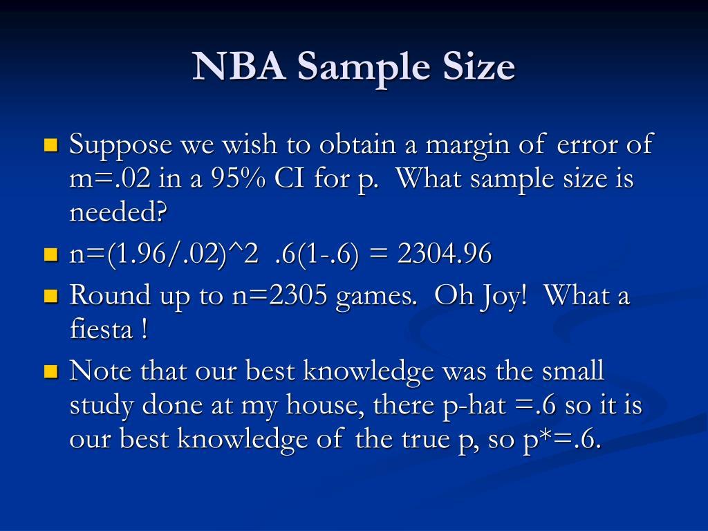 NBA Sample Size