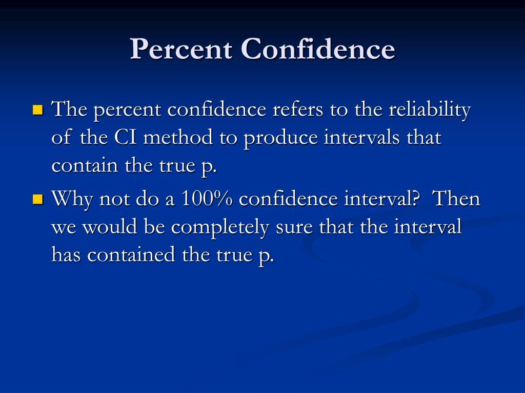 Percent Confidence