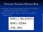 vietnam veterans divorce rate
