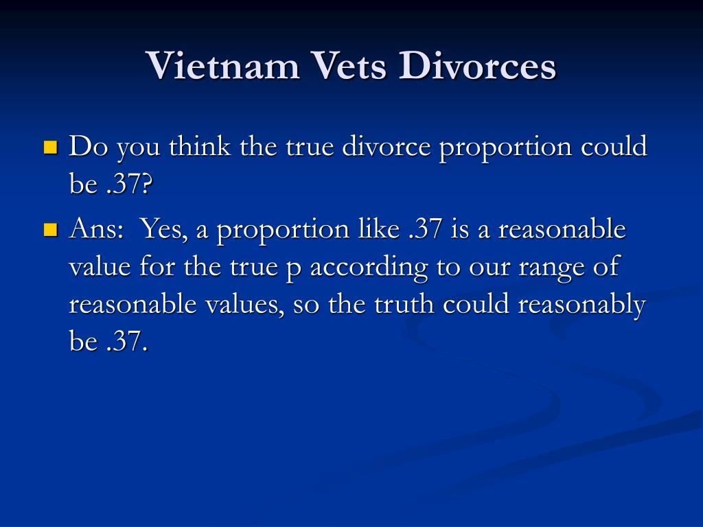 Vietnam Vets Divorces