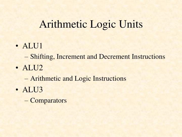 Arithmetic Logic Units