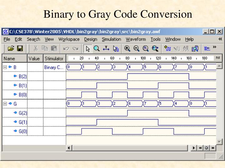 Binary to Gray Code Conversion