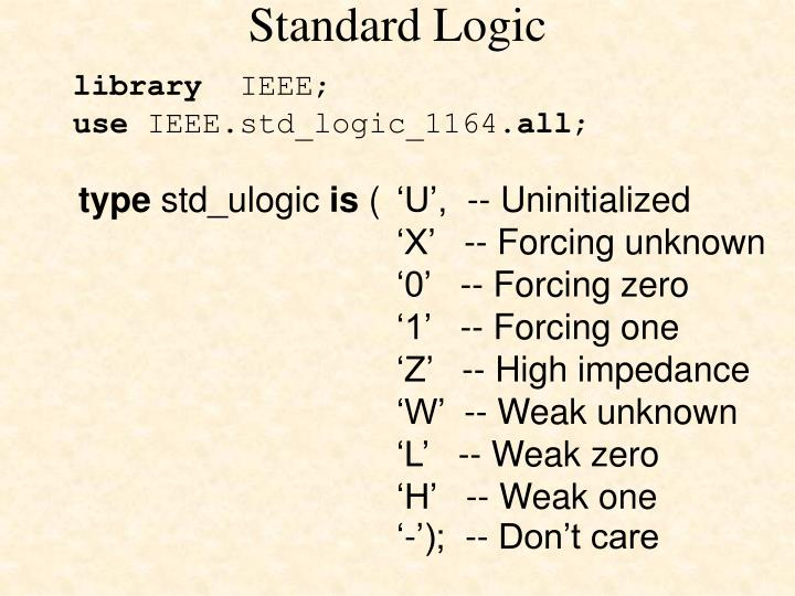 Standard Logic