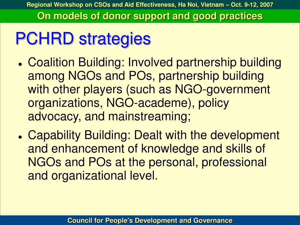 PCHRD strategies