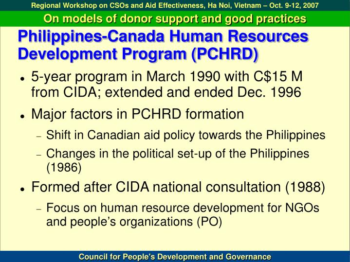Philippines canada human resources development program pchrd l.jpg