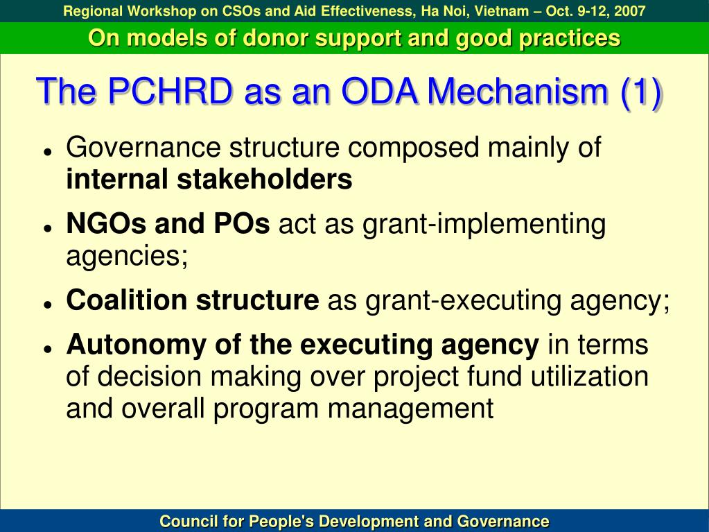 The PCHRD as an ODA Mechanism (1)