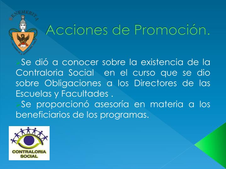 Acciones de Promoción.