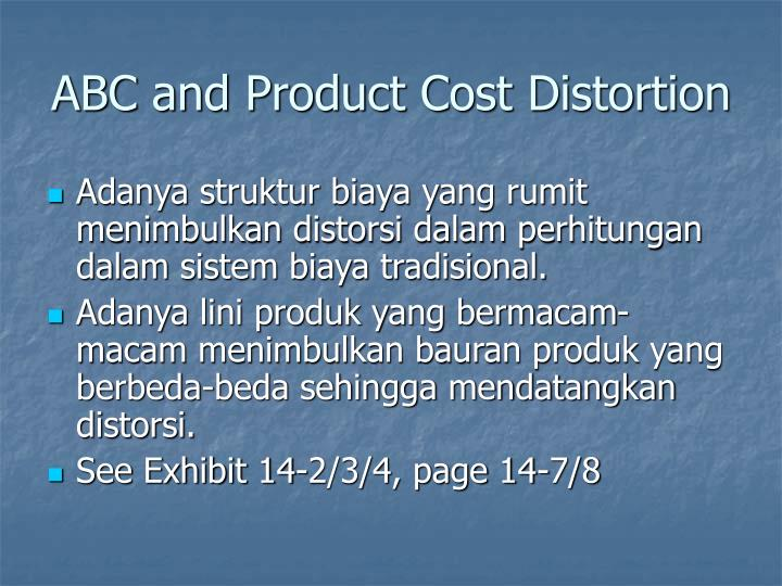 ABC and Product Cost Distortion
