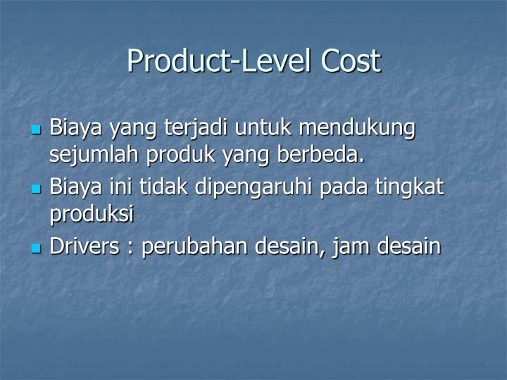 Product-Level Cost