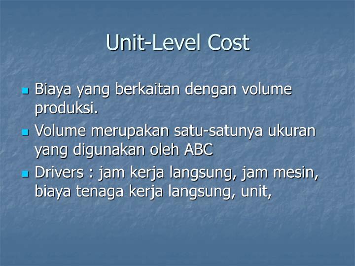 Unit-Level Cost