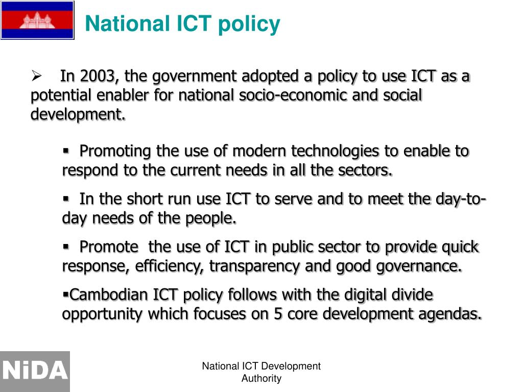 National ICT policy