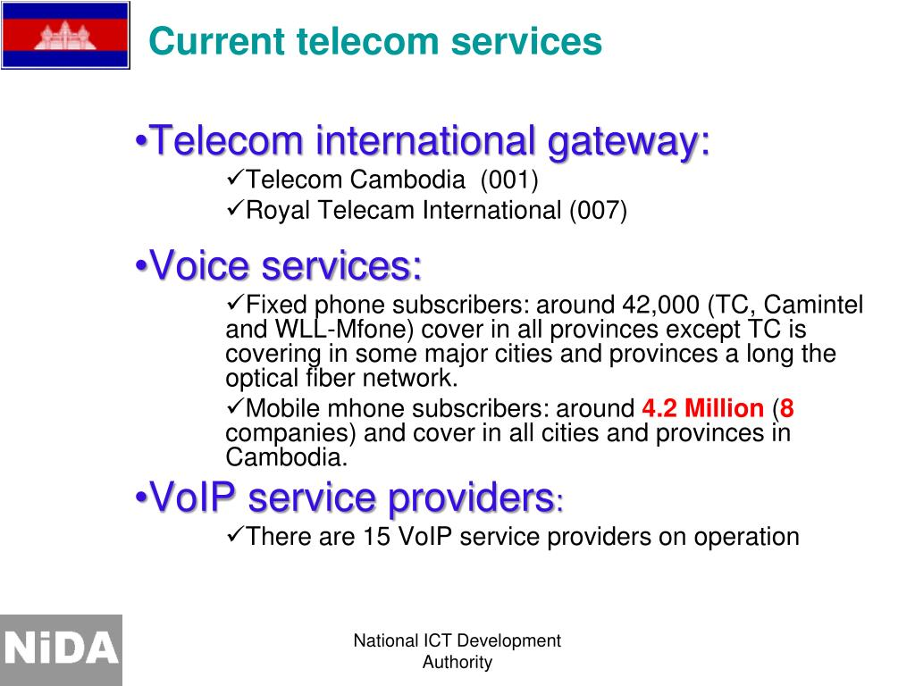 Current telecom services