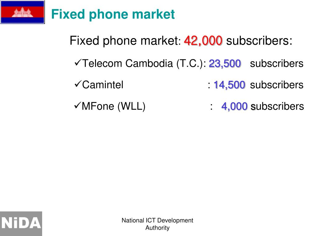 Fixed phone market