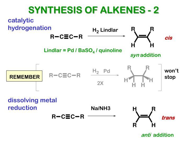 SYNTHESIS OF ALKENES - 2
